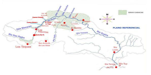 Imagen #3: Cuenca del rio Guaire.