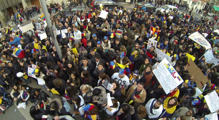 Manifestaciones en Londres 22/02/2014 / Fotografia: Paulo Coll / www.elarepon.com